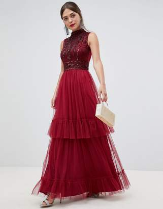 Frock and Frill Frock & Frill high neck maxi dress with embellished detail