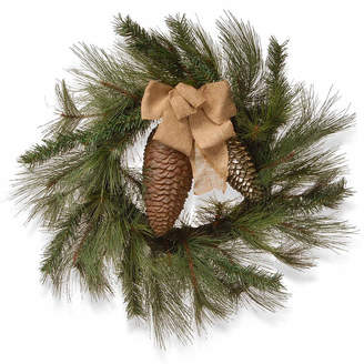 Co NATIONAL TREE National Tree Gold Ribbon Indoor/Outdoor Christmas Wreath
