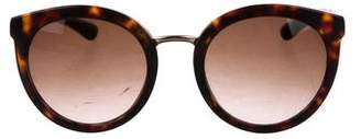 Dolce & Gabbana Round Gradient Sunglasses