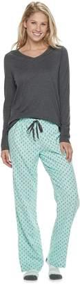 Sonoma Goods For Life Petite SONOMA Goods for Life 3-Piece Tee, Pants & Sock Pajama Set