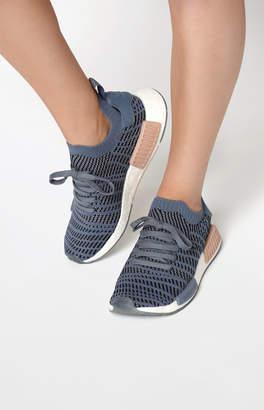 adidas Women's Blue NMD_R1 STLT Primeknit Sneakers
