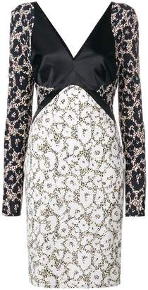 Roberto Cavalli contrast leopard print dress