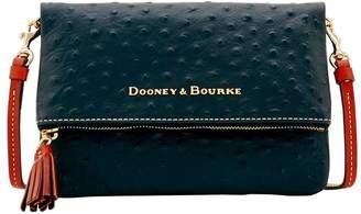 Dooney & Bourke Ostrich Foldover Zip Crossbody