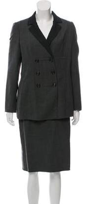Akris Double-Breasted Wool Skirt Suit