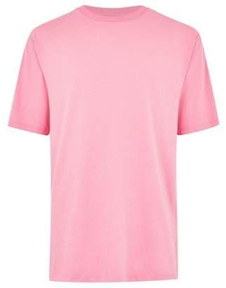 Topman Mens Pink 'Moment' Oversized T-Shirt