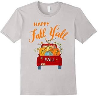 Happy Fall Yall Shirt Pretty Autumn Harvest Pumpkin Truck