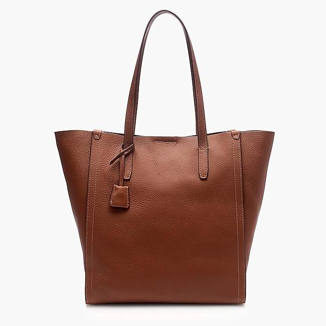 Signet tote bag in Italian leather
