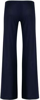 Fisico ribbed flared trousers