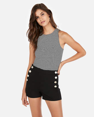 Express High Waisted Button Sailor Short