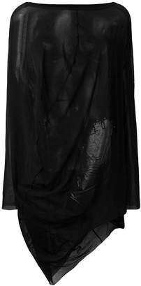Rundholz Black Label oversized mesh top