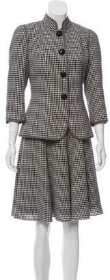 Andrew Gn Wool Dress Set
