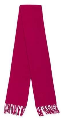 Longchamp Wool & Cashmere-Blend Fringe Scarf