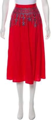 Elizabeth and James Embroidered Midi Skirt