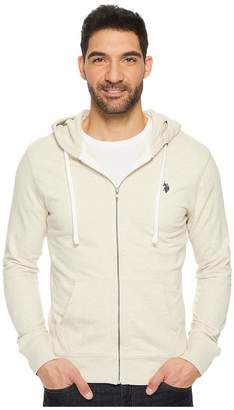 U.S. Polo Assn. Slim Fit Solid French Terry Hooded Jacket Men's Coat