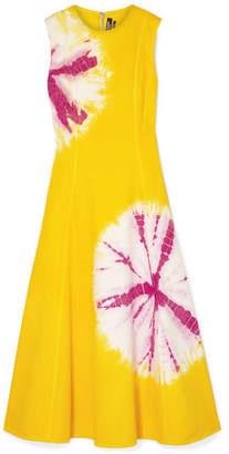 Calvin Klein Tie-dyed Denim Midi Dress - Yellow