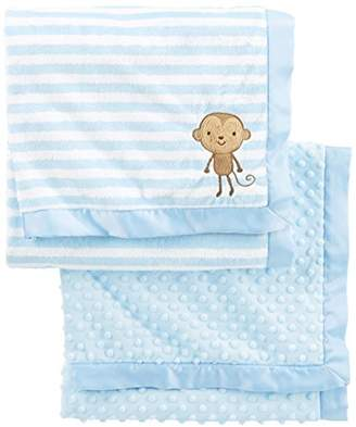 Carter's Simple Joys by Baby Boys' 2-Pack Plush Blankets