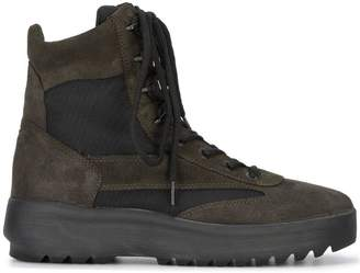 Yeezy Black suede military boots