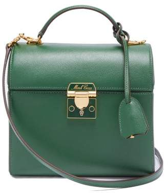 Mark Cross Sara Saffiano Leather Bag - Womens - Dark Green