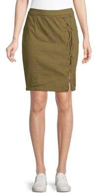 William Rast Michelle High-Waist Lace-Up Skirt