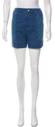 See by Chloe High-Rise Twill Shorts