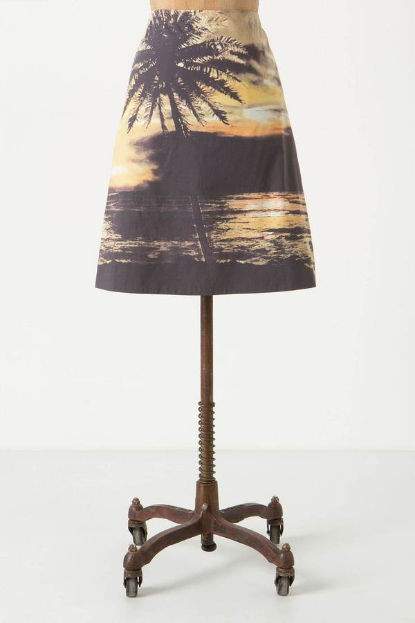 Digital Sunset Skirt