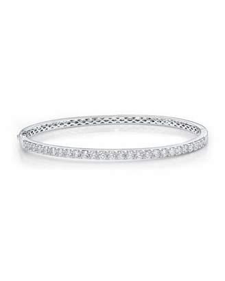 Memoire 18k White Gold Diamond Fashion Bangle, 1.97tcw