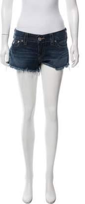 True Religion Mid-Rise Denim Shorts