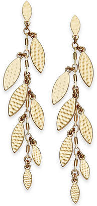 INC International Concepts I.N.C. Gold-Tone Shaky Leaf Linear Drop Earrings, Created for Macy's