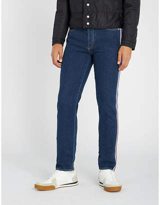 Givenchy Logo side-stripe slim-fit tapered jeans