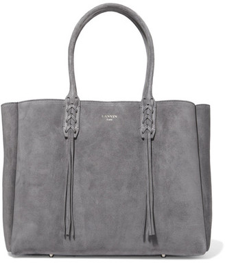 Lanvin - The Shopper Suede Tote - Gray $1,495 thestylecure.com