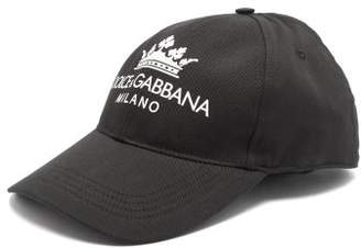 Dolce & Gabbana Logo Print Cotton Cap - Mens - Black
