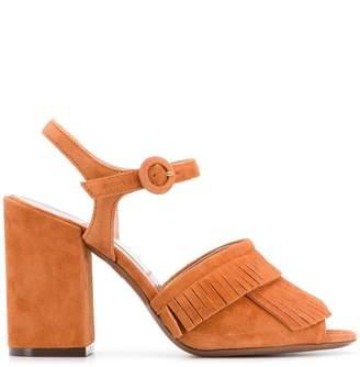 L'Autre Chose fringe heeled sandals