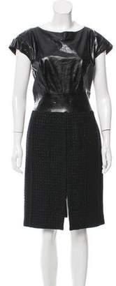 Chanel Leather Tweed Dress