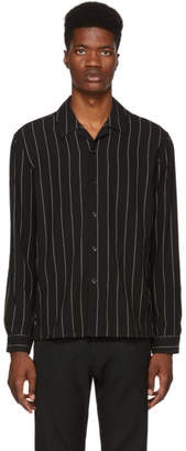 Ami Alexandre Mattiussi Black Pinstripe Shirt