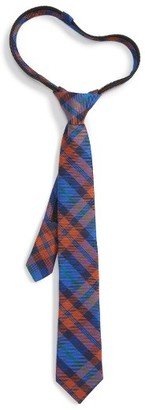 Boy's Nordstrom Plaid Wool & Silk Zip Tie $24.50 thestylecure.com