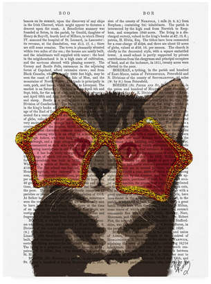 "Fab Funky Kitten in Star Sunglasses Canvas Art - 36.5"" x 48"""