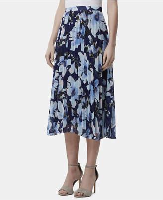 60648199e7c9 Tahari ASL Petite Floral-Print Pleated Midi Skirt