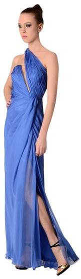 Alberta Ferretti Asymmetric Evening Dress