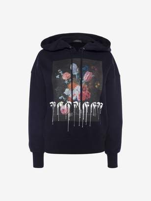 Alexander McQueen Paint Drip Hooded Sweatshirt