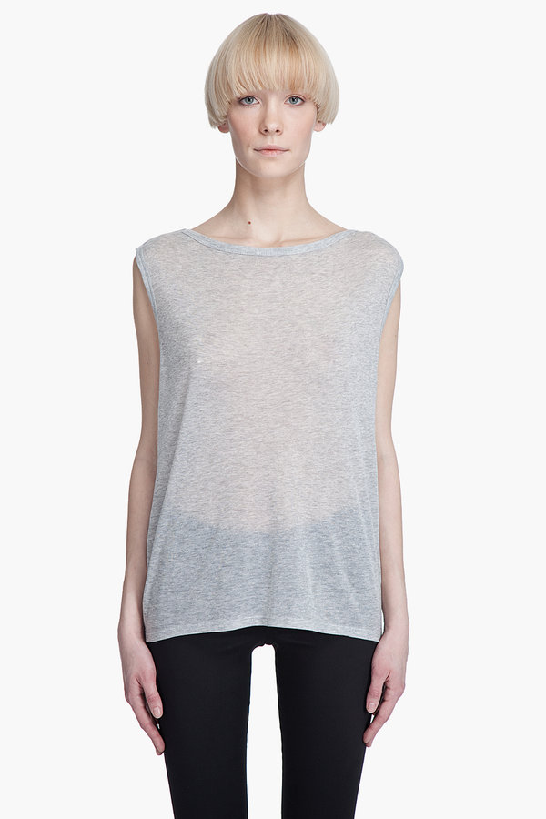 T by alexander wang BOATNECK CAPELET T-Shirt