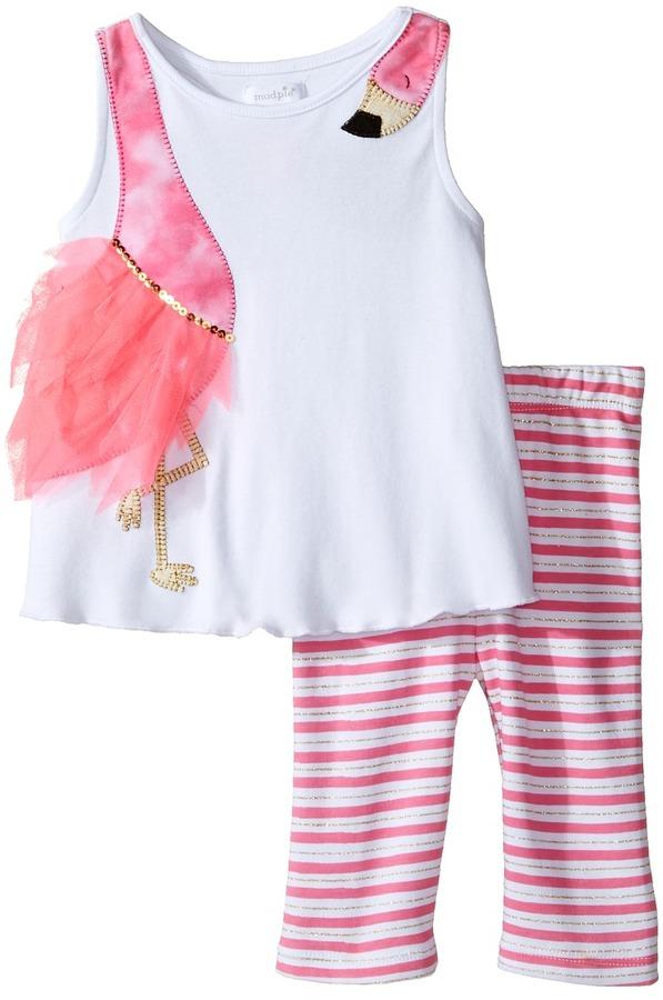 Mud Pie - Flamingo Short Set Girl's Active Sets