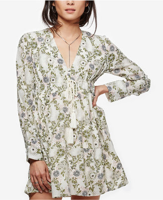 Free People Stealing Fire Printed Peasant Dress $128 thestylecure.com