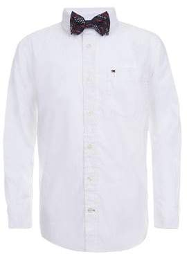 Tommy Hilfiger Boy's Kramer Poplin Button-Down Shirt With Bow Tie