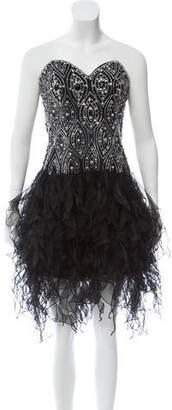 Jovani Embellished Strapless Cocktail Dress