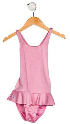 Ralph Lauren Girls' Peplum One-Piece Swimsuit
