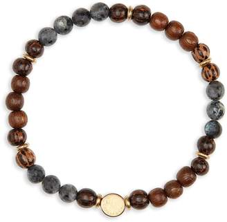 Co Caputo & Stone & Wood Bead Bracelet