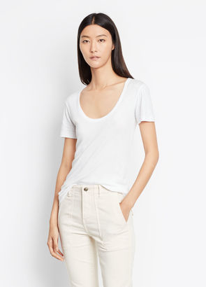 Scoop V-Neck Tee $85 thestylecure.com