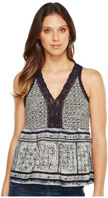 Lucky Brand Border Tank Top Women's Sleeveless