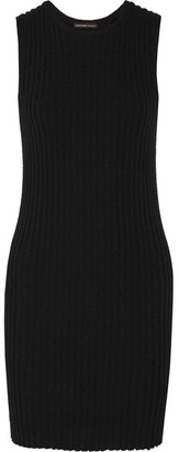 James Perse - Ribbed Cotton-blend Mini Dress - Black $325 thestylecure.com