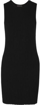 James Perse - Ribbed Cotton-blend Mini Dress - Black $325 thestylecure.com